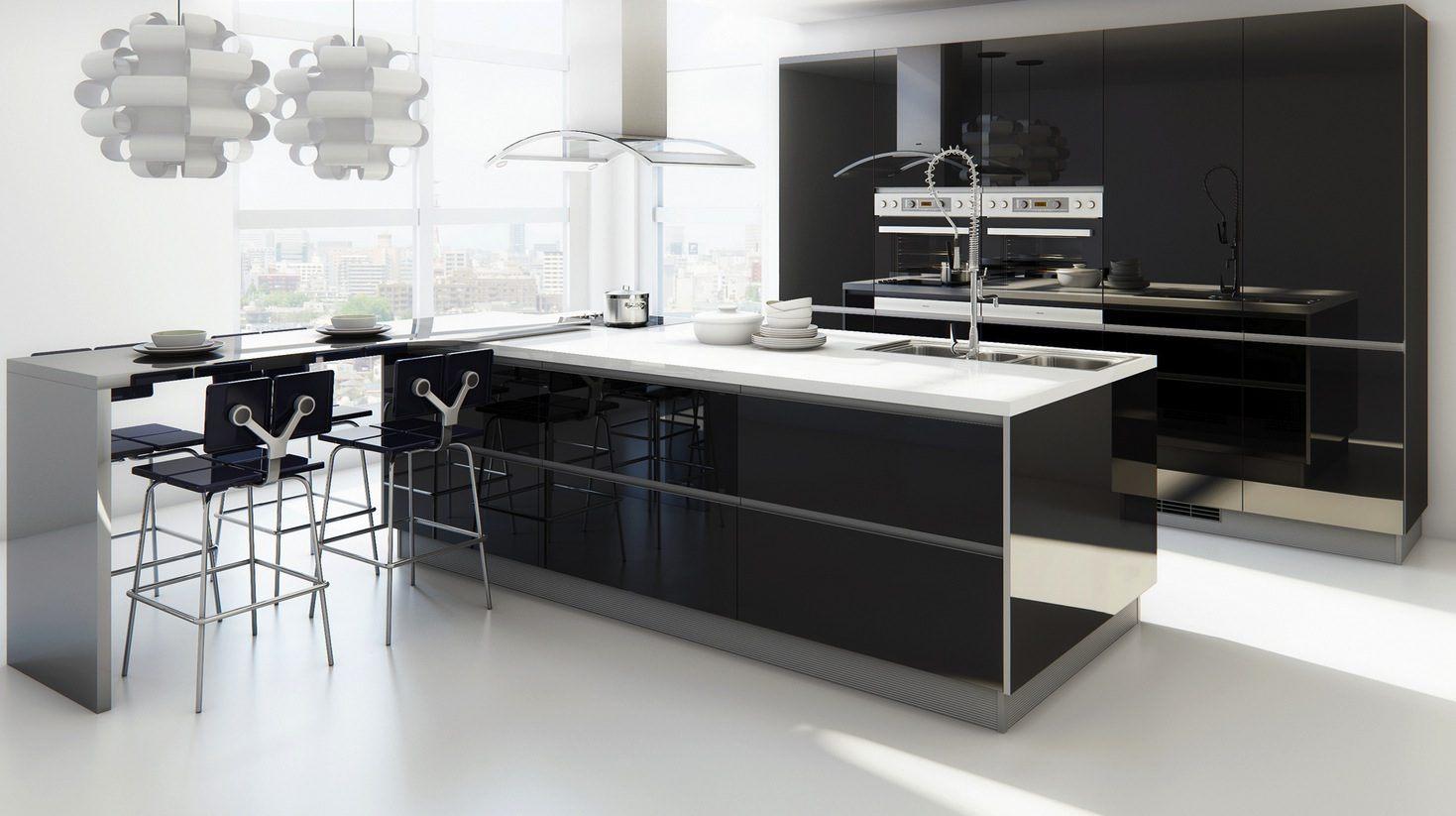Móveis De Cozinha Modernos Sem Puxadores