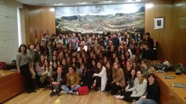 2016 - lyceens de sud medoc en visite à Almansa - 1