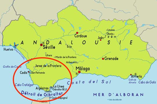 Carte Andalousie Villes.4 Villes D Andalousie A Ne Pas Manquer Espagnol Pas A Pas