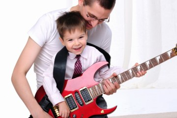 Dad-son-guitar