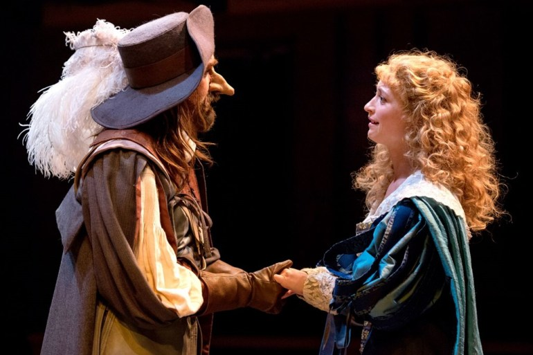 Harry-Groener-and-Julie-Jesneck-in-Cyrano-de-Bergerac-at-Chicago-Shakespeare