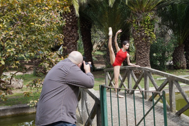 Ballet in streets of Portugal