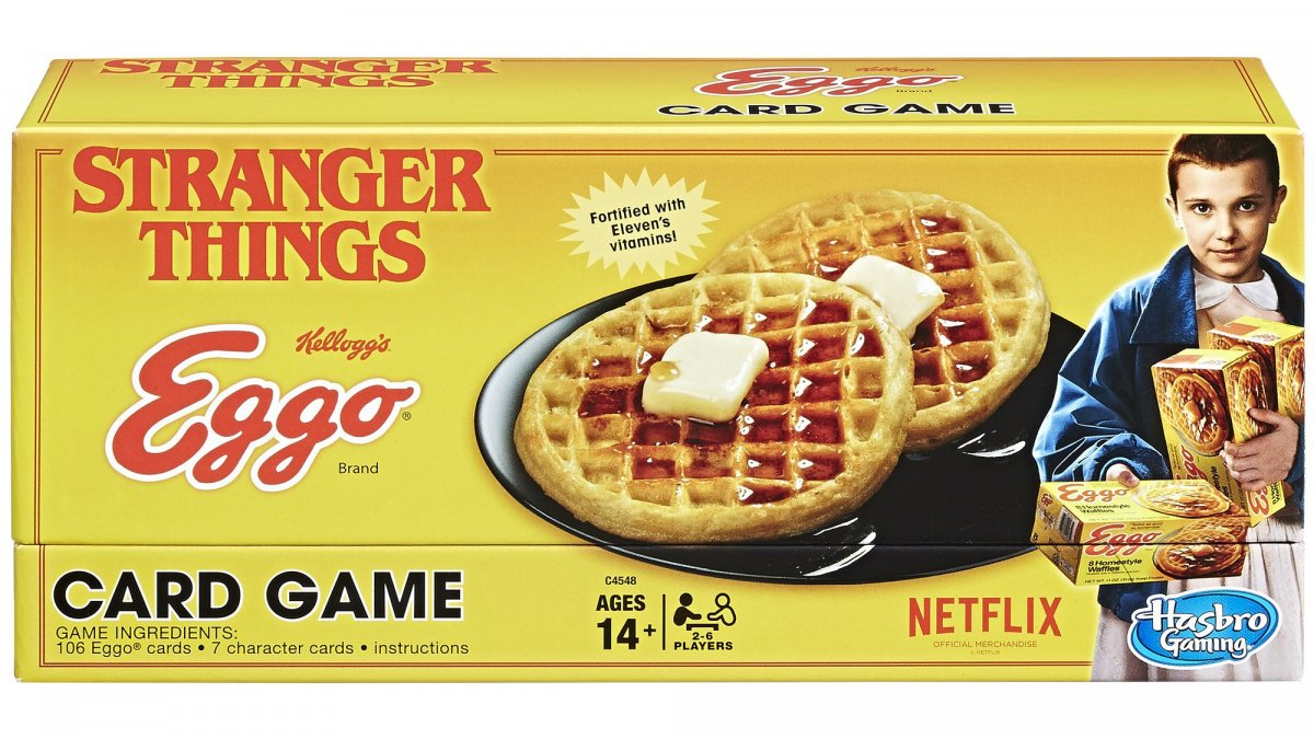 Stranger Things; Eggo card game; board games