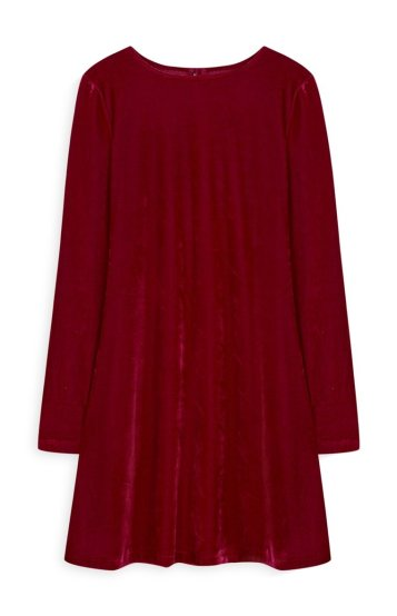 Red Velvet Swing Dress Primark 10€