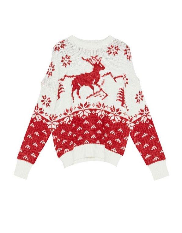 Sweater de natal com rena Pull&Bear 29,99 €