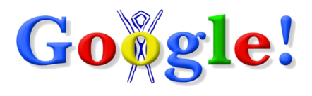 O Primeiro Doodle da Google, com o logotipo do Burning Man