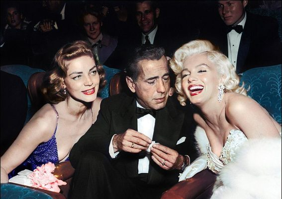 Lauren Becall, Humphrey Bogart e Marilyn em 1953