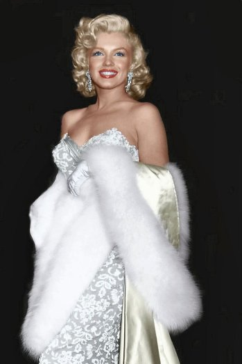 Marilyn Monroe na estreia do filme 'How to Marry a Millionaire' em 1953