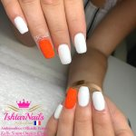 IshtarNails Shelly Gel Classic Snow White and Sweety Gel Coral Fluo 3