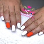 IshtarNails Shelly Gel Classic Snow White and Sweety Gel Coral Fluo 5