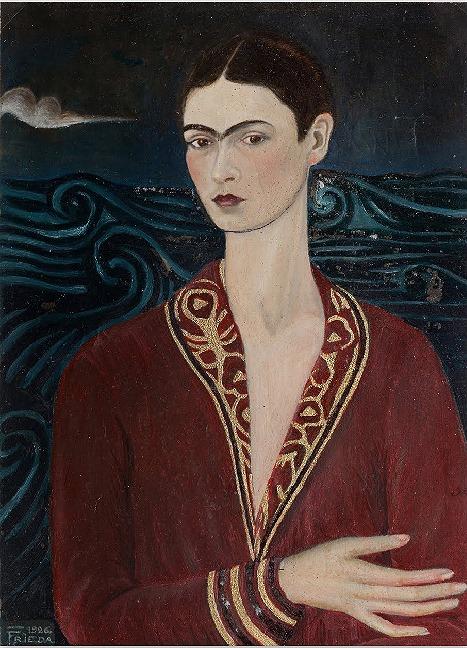 Frida Kahlo estido em veludo