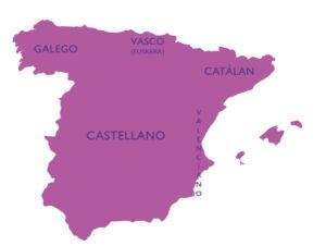 mapa de línguas na espanha