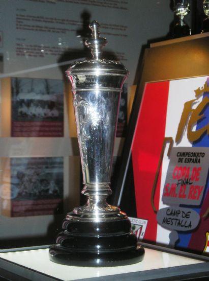 A taça da primeira Copa del Rey