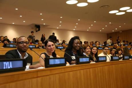 Mas de 500 líderes jóvenes atendieron a la Asamblea Internacional de Líderes Jóvenes en las Naciones Unidas.
