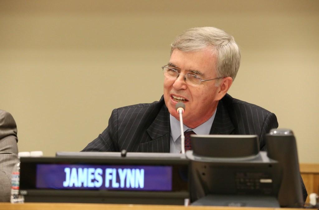 Liderazgo Moral e Innovador: Jim Flynn, Presidente Internacional de GPF se dirige a los jóvenes líderes en la ONU