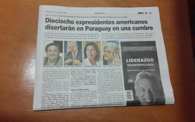 Cubrimiento de Medios Internacionales sobre la Convención Paz Global 2014 en Paraguay