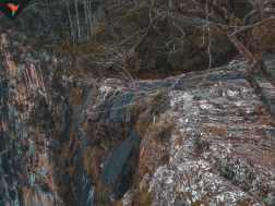 En increíble caudal de agua de la cascada