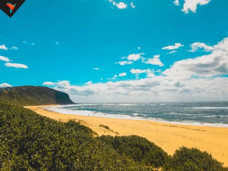 La playa desde el mirador