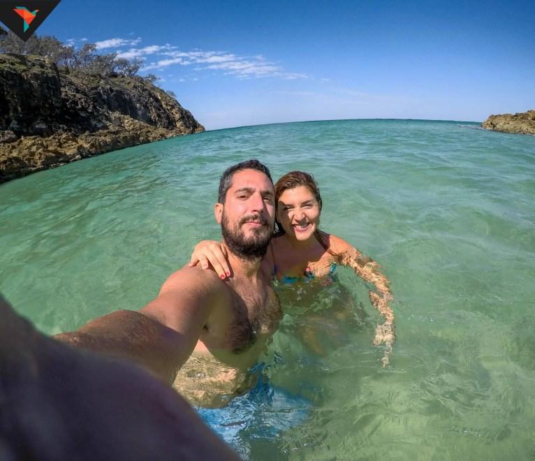 Disfrutando el mar