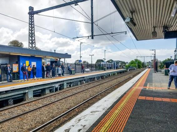 Estación de tren en Melbourne