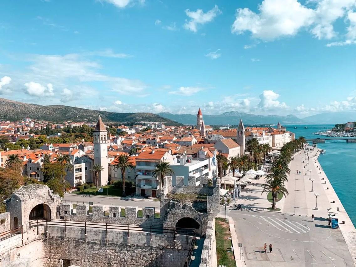 Increibles vistas desde el Castillo de Camarlengo - Trogir
