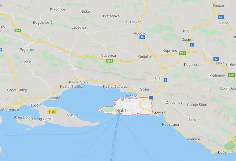 Mapa de Split