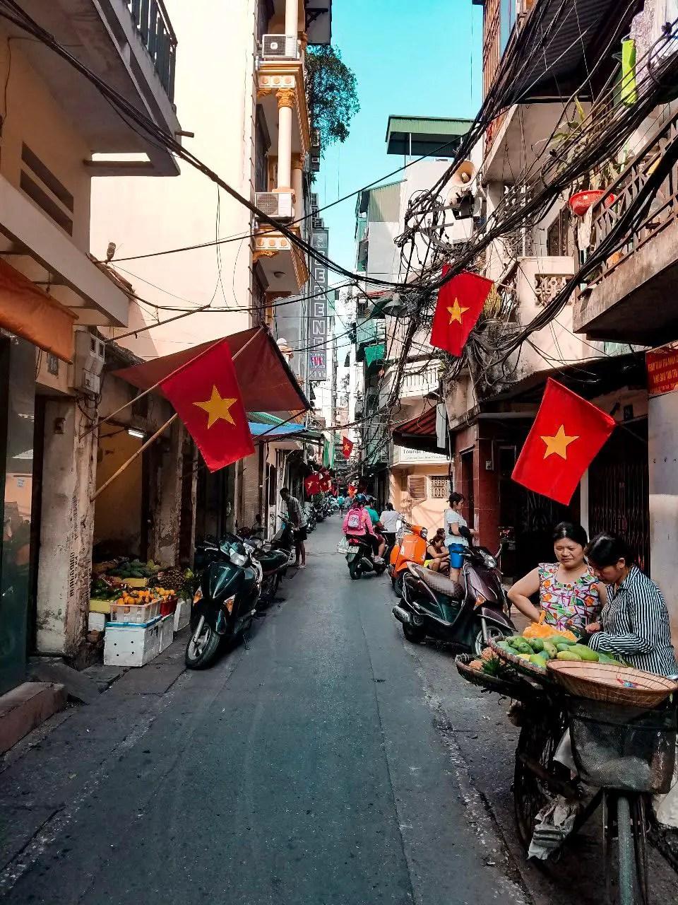 Caminando en Hanoi