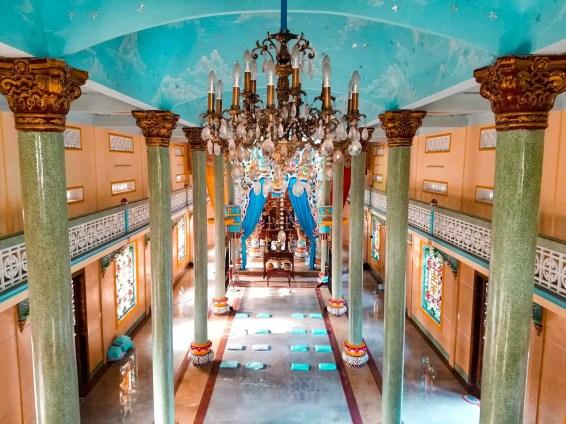 Interior de Cao Dai Temple