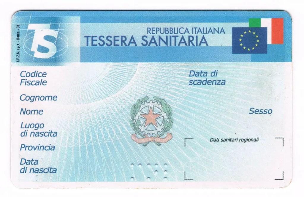 Tessera_Sanitaria_Italia-Fronte