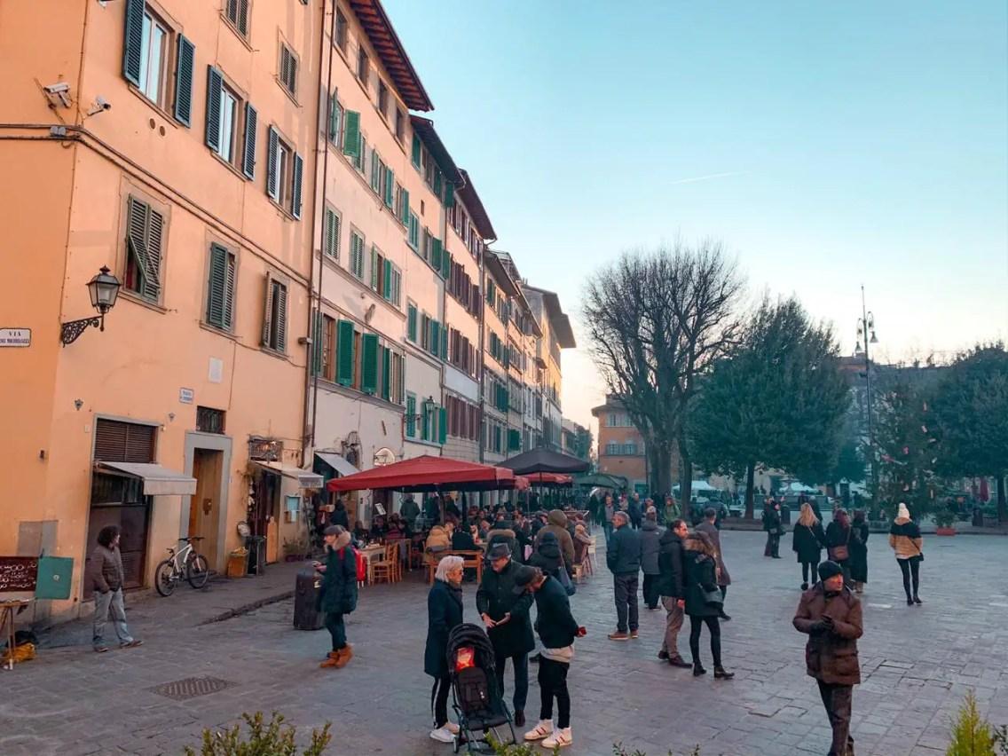 que ver en Florencia, piazza santo spirito