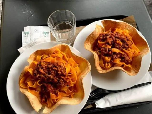 Comida en Bologna