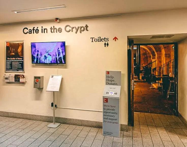 London's hidden Cafe - Crypta