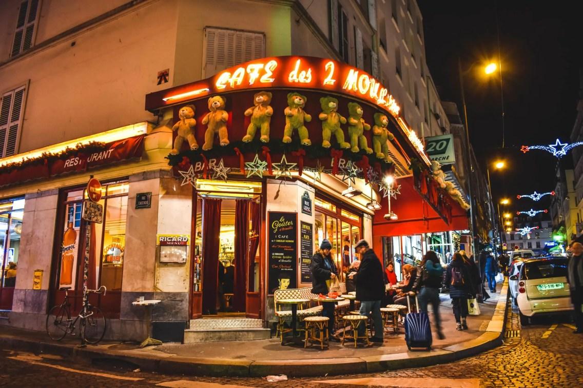 Café aux deux Moulins en Montmartre