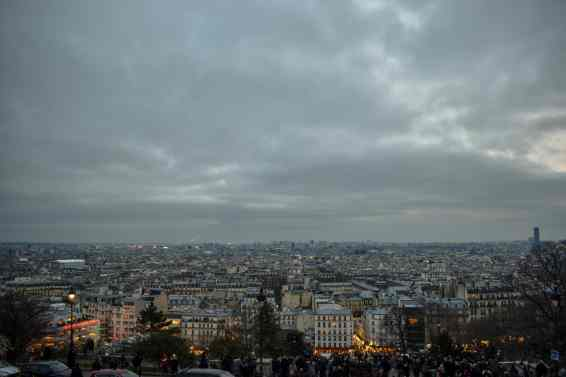 Las vistas desde el Sacre Cour en Montmartre