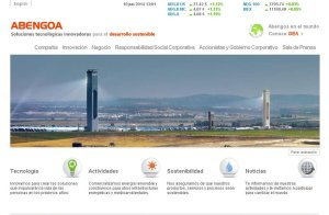 Portal web de Abengoa.