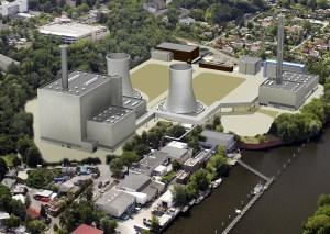 Imagen infográfica de la futura central de Litchterfelde
