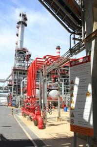 Una unidad de la refinería La Rábida, de Huelva.