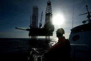 Una instalación de extracción petrolífera de Repsol.