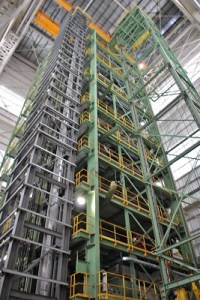 Una de las unidades de la planta.