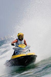 Campeonato europeo de motos de agua celebrado en la San Javier - Murc