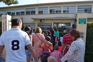 Entrada de los niños a los colegios