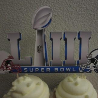 Cake Topper Super Bowl 53 Los Angeles Rams New England Patriots
