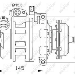 Compresor de Aire Acondicionado de VOLKSWAGEN Touareg-Transporter=DENSO 7SEU16C