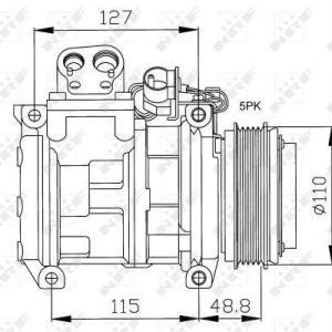 Compresor de Aire Acondicionado de BMW 320i=DENSO 10PA17C