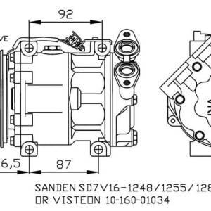 Compresor de Aire Acondicionado FORD Focus II-CMax-MAZDA 3-VOLVO S40-v50=SANDEN SD7V16-VISTEON VS16