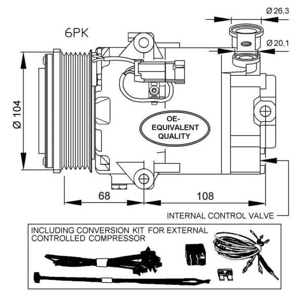 Compresor de Aire Acondicionado OPEL Astra H-GTC-Zafira B=DELPHI CVC