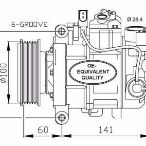 Compresor de Aire Acondicionado de AUDI A4-A5-A6-A8-Q5-SEAT Exeo=DENSO 6SEU14C