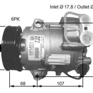 Compresor de Aire Acondicionado de OPEL Astra J-GTC-Zafira B-Meriva B-1.3cdti-1.7CDTI