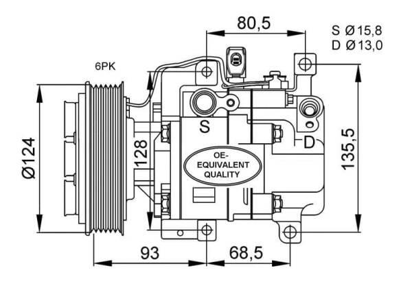 Compresor de Aire Acondicionado de MAZDA 3-6=PANASONIC H12A1