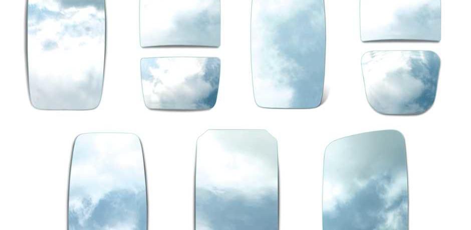 Lâminas de espelhos planos e convexos